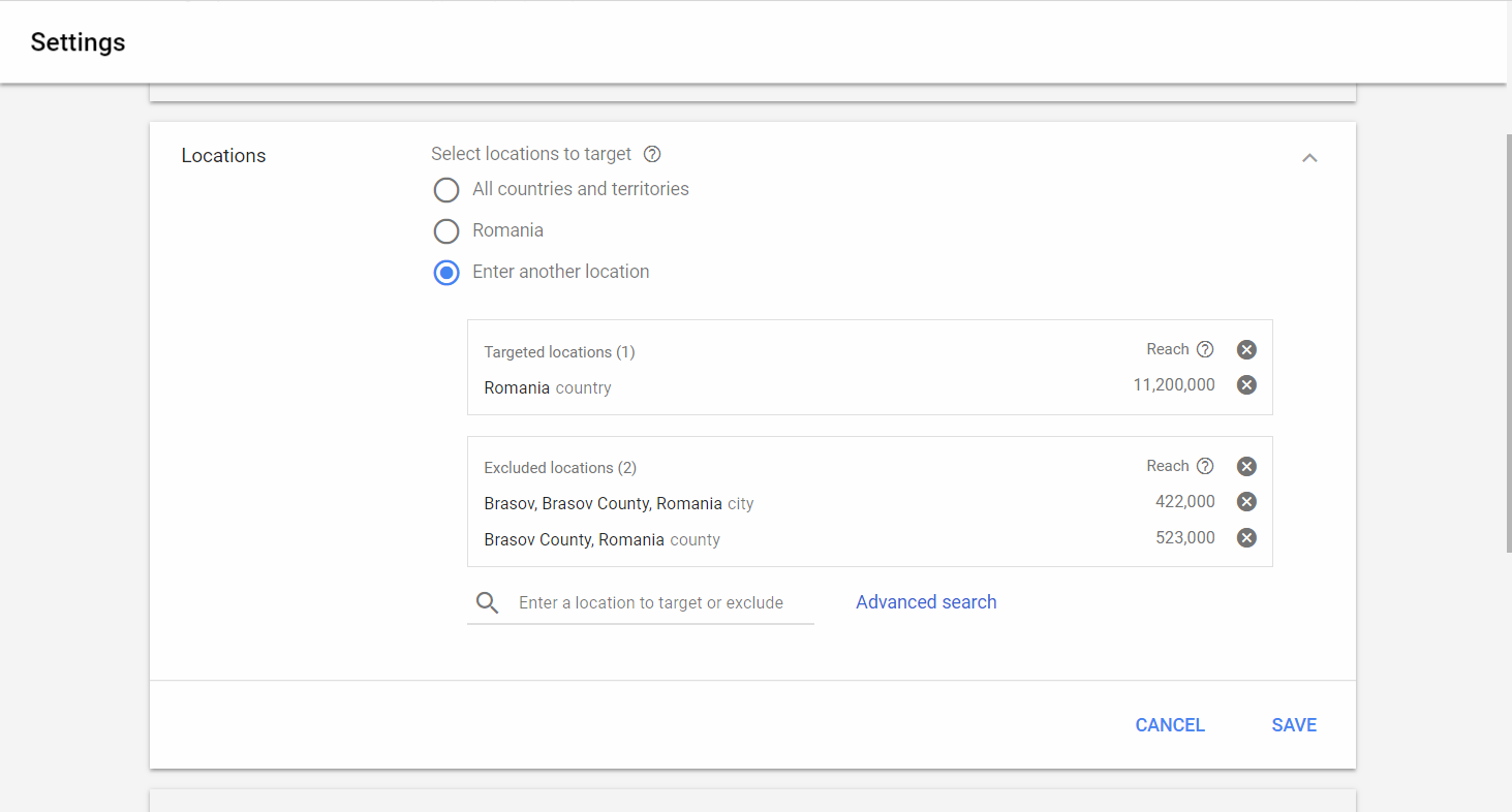 setare campanie google adwords